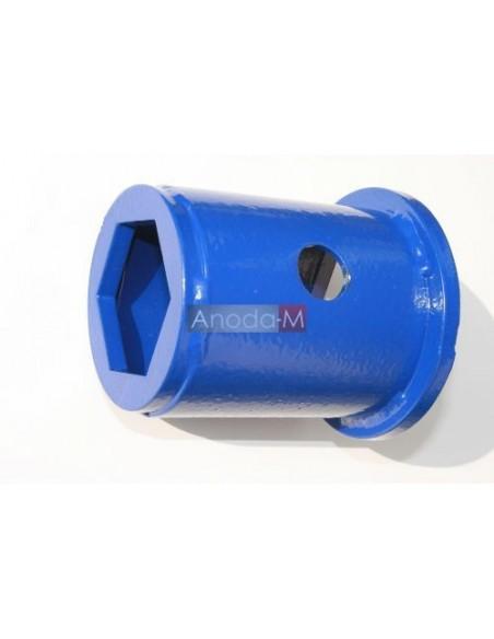 """Klucz nasadowy do anod magnezowych z korkiem mosiężnym 5/4"""" oraz 2"""" Galmet"""