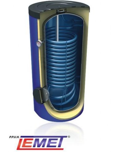 Wymiennik Lemet 200 litrów z wężownicą spiralną, ocieplony, pionowy